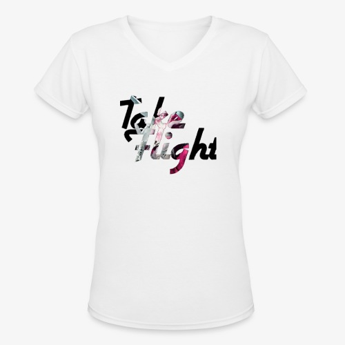 TakeFlight - Women's V-Neck T-Shirt