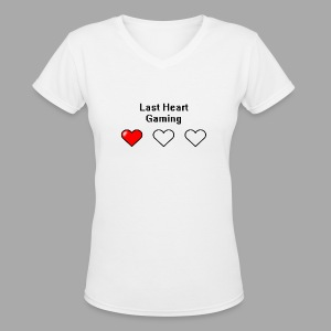 Last Heart Gaming Logo - Women's V-Neck T-Shirt