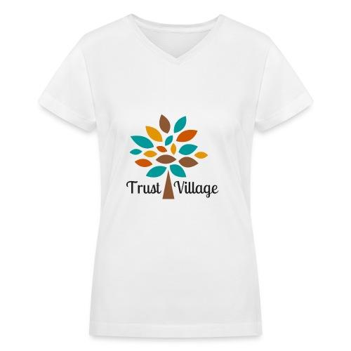 Official Trust Village Apparel (black wording) - Women's V-Neck T-Shirt