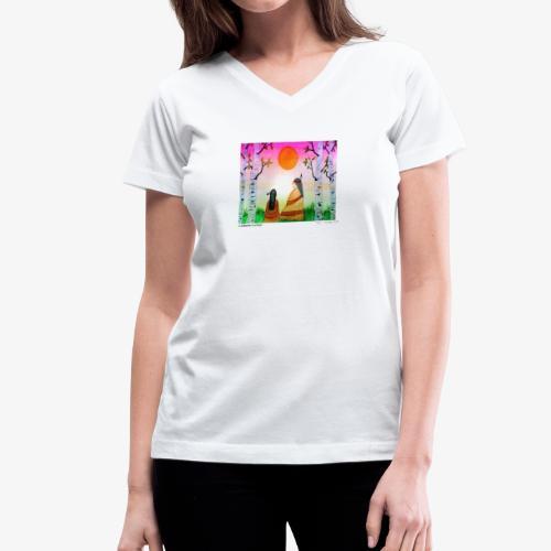 Grandmother Teachings - Women's V-Neck T-Shirt