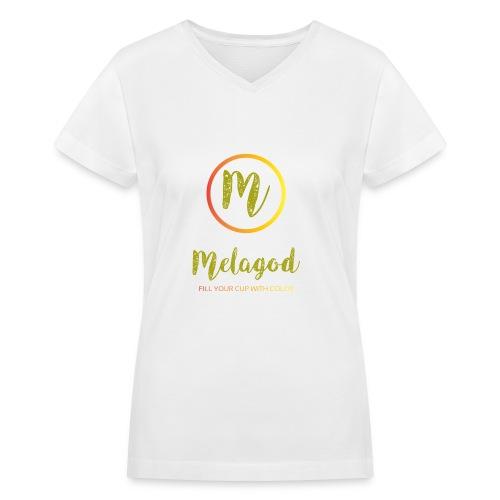 MelaGod - Women's V-Neck T-Shirt