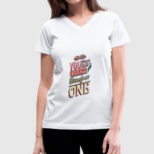 Number One - Women's V-Neck T-Shirt
