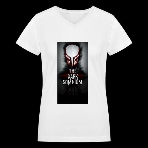Tall Dark Somnium Logo - Women's V-Neck T-Shirt