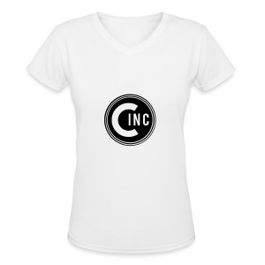 Coasters Inc. Logo - Women's V-Neck T-Shirt