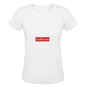 Suffocate - Women's V-Neck T-Shirt