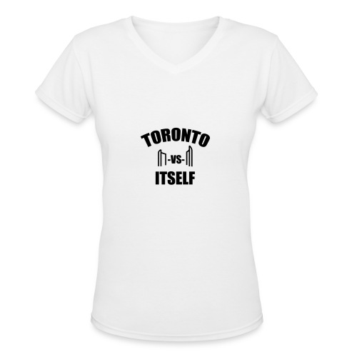 6 Versus 6 - Women's V-Neck T-Shirt