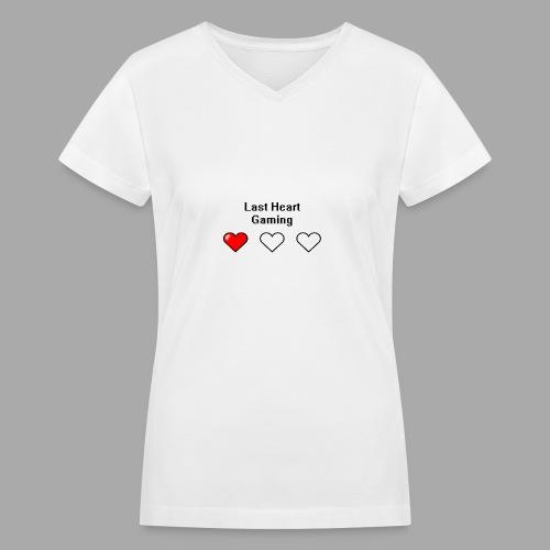 Last Heart Gaming Logo - Women's V-Neck T-Shirt