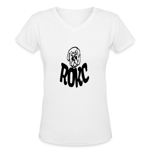 ROKC ALTERNATE LOGO - Women's V-Neck T-Shirt