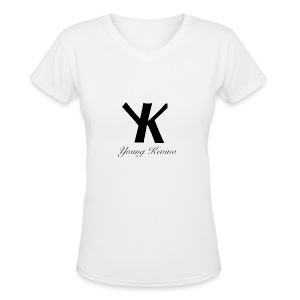 Young Kevino Official Logo (Black) - Women's V-Neck T-Shirt
