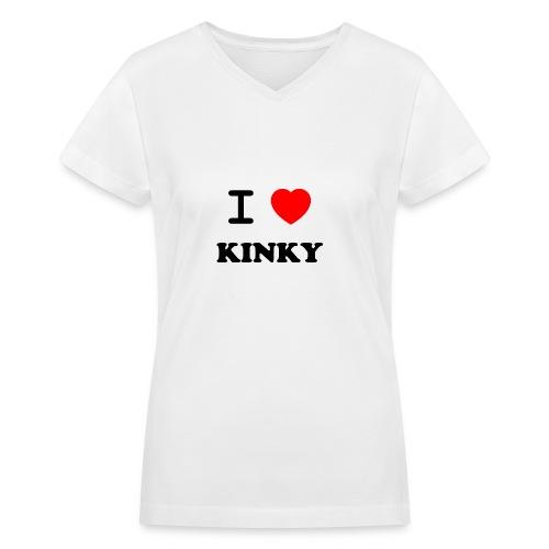 I Love Kinky - Women's V-Neck T-Shirt