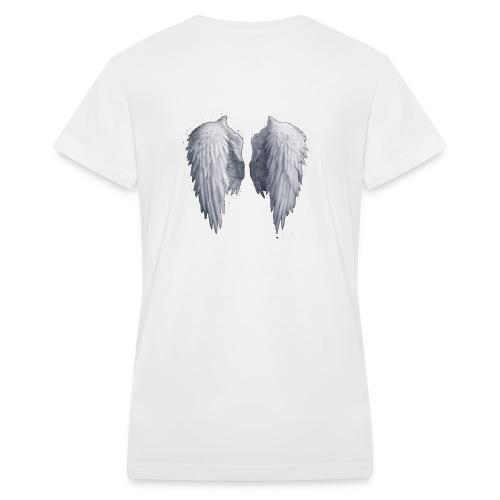 Angel Wings - Women's V-Neck T-Shirt