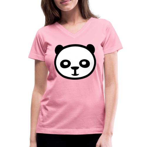 Panda bear, Big panda, Giant panda, Bamboo bear - Women's V-Neck T-Shirt