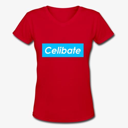 Celabite ™ - ball blue low - Women's V-Neck T-Shirt