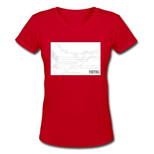 SunLines - Women's V-Neck T-Shirt
