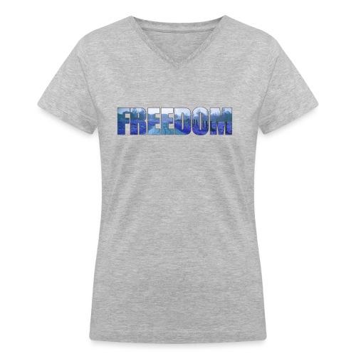 Freedom Photography Style - Women's V-Neck T-Shirt
