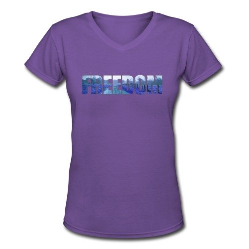 Freedom Photography Style - Women's V-Neck T-Shirt