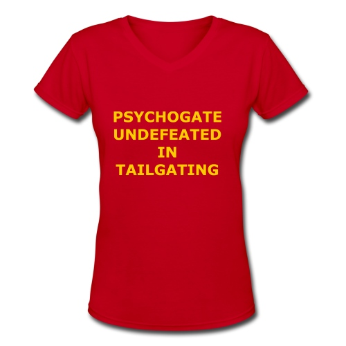 Undefeated In Tailgating - Women's V-Neck T-Shirt