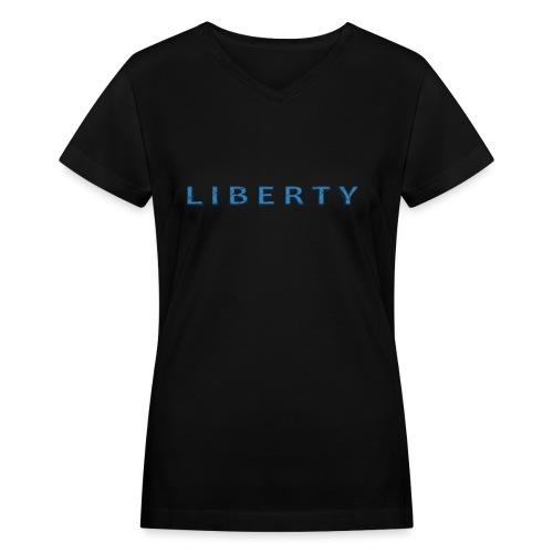 Liberty Libertarian Design - Women's V-Neck T-Shirt