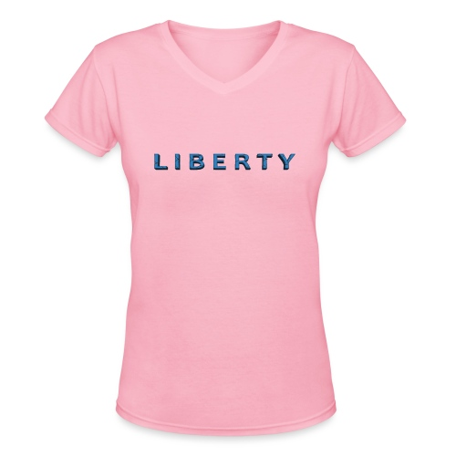 Liberty Libertarian Design - Women's V-Neck T-Shirt