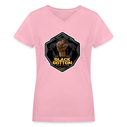 Black Bottom Gun Club - Women's V-Neck T-Shirt