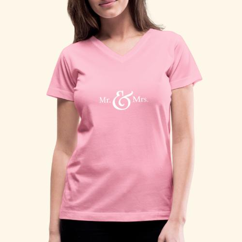 MR.& MRS . TEE SHIRT - Women's V-Neck T-Shirt