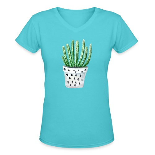Cactus - Women's V-Neck T-Shirt