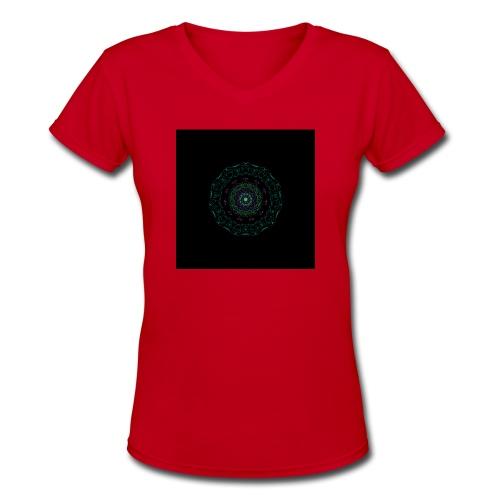 Spring Mandala - Women's V-Neck T-Shirt