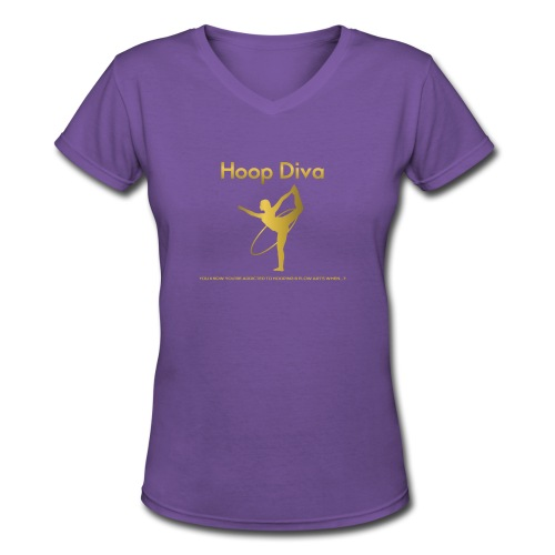 Hoop Diva 2 - Women's V-Neck T-Shirt