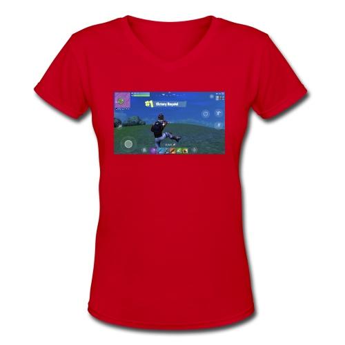 My First Win! - Women's V-Neck T-Shirt