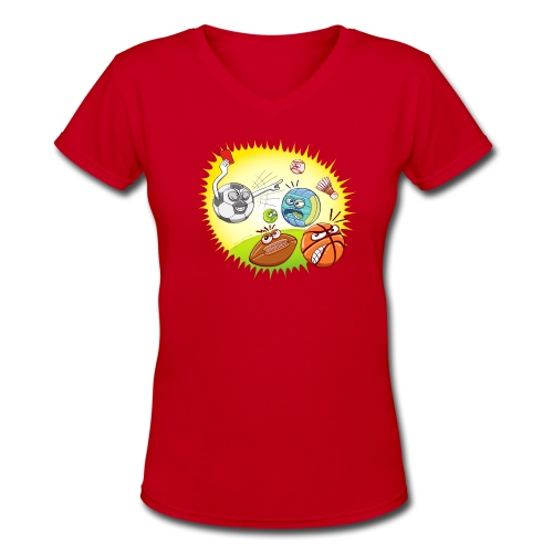 Soccer showing red card to other sports - Women's V-Neck T-Shirt