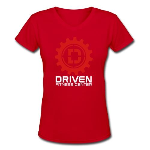 Stacked Logo - Women's V-Neck T-Shirt