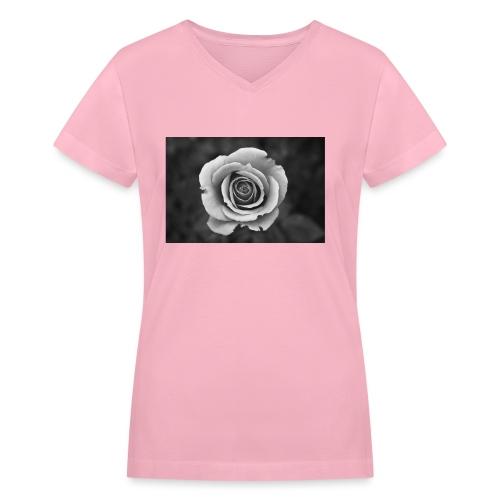 dark rose - Women's V-Neck T-Shirt