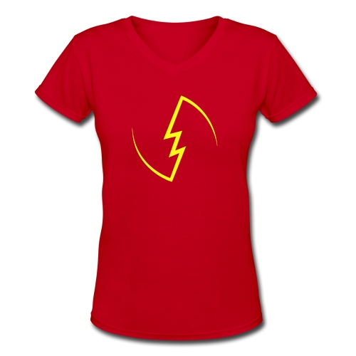 Electric Spark - Women's V-Neck T-Shirt