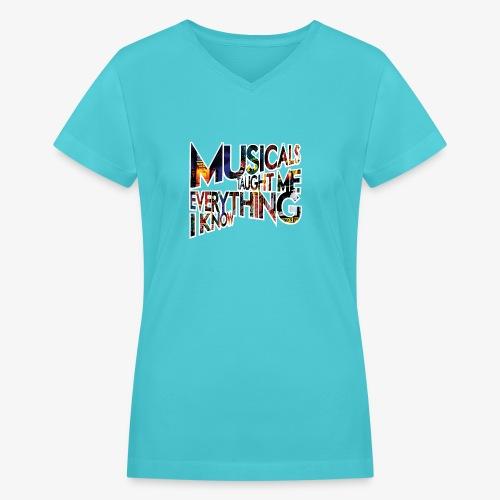 MTMEIK Broadway - Women's V-Neck T-Shirt