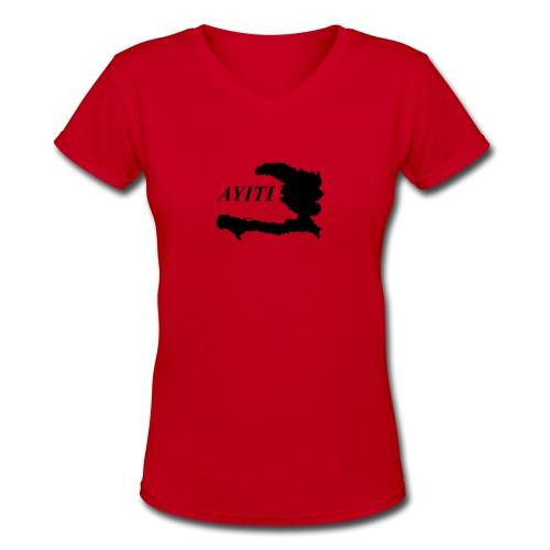 Hispaniola - Women's V-Neck T-Shirt