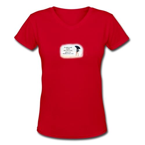 Womens Tshirt - Inspirational - Women's V-Neck T-Shirt