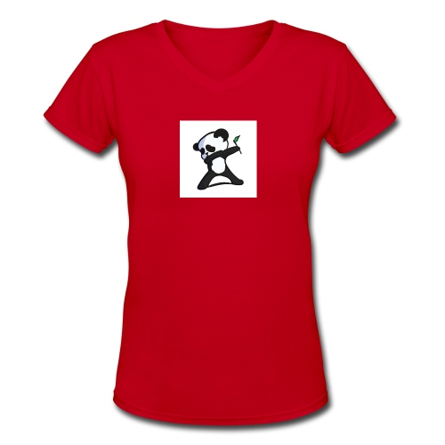 Panda DaB - Women's V-Neck T-Shirt