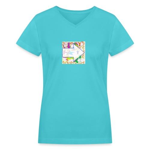 shapes - Women's V-Neck T-Shirt
