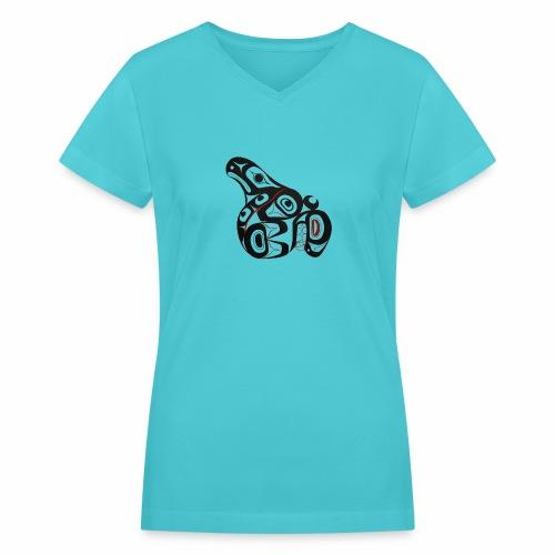 Killer Whale - Women's V-Neck T-Shirt