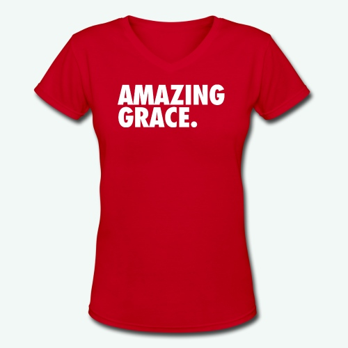 AMAZING GRACE - Women's V-Neck T-Shirt