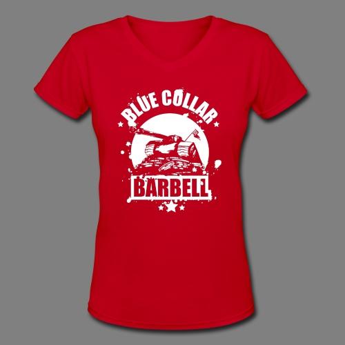 logo black shirts double - Women's V-Neck T-Shirt