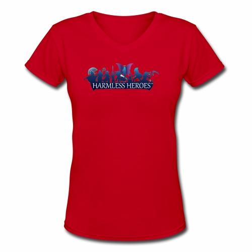 Offline - Harmless Heroes - Women's V-Neck T-Shirt