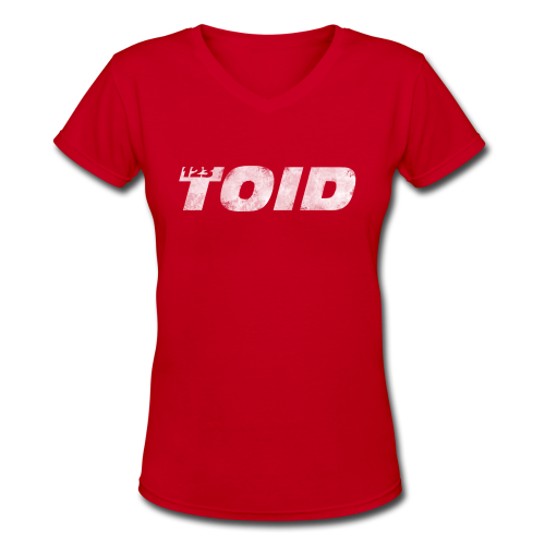 123Toid Retro look - Women's V-Neck T-Shirt