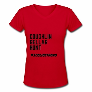 Coughlin Gellar Hunt - Women's V-Neck T-Shirt
