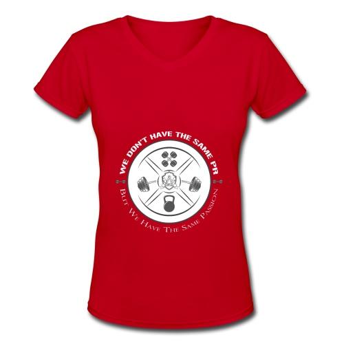 The same Passion blanc - Women's V-Neck T-Shirt