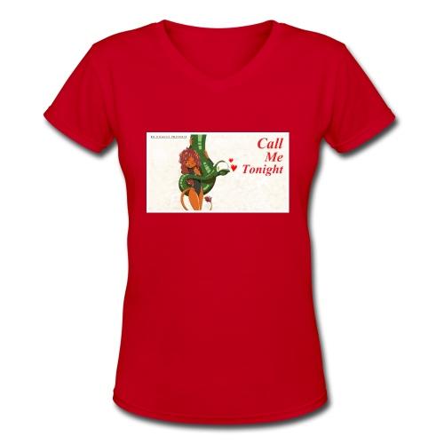 Call Me Tonight Title Card - Women's V-Neck T-Shirt