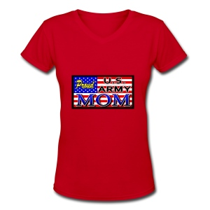 Proud Army mom - Women's V-Neck T-Shirt