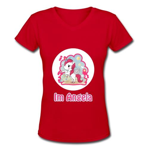 d1 - Women's V-Neck T-Shirt