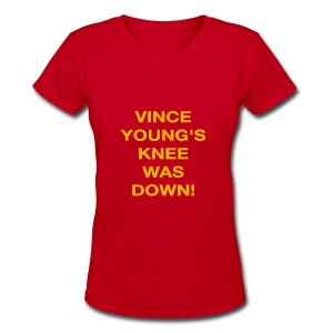 Vince Young's Knee Was Down - Women's V-Neck T-Shirt