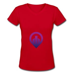 City - Women's V-Neck T-Shirt